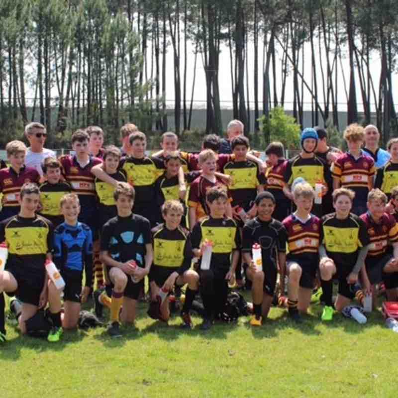 U14s and U15s in Martignas - May 2018
