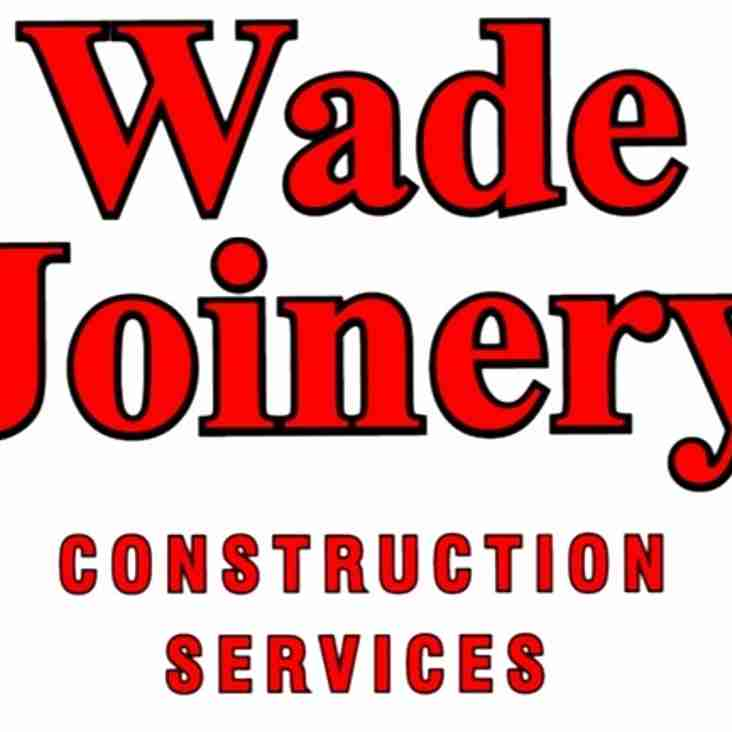 New Sponsorship Partner for Town - Wade Joinery Construction Services