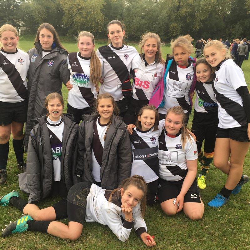 U13 Girls  beat Old Halesonians RFC 10 - 3