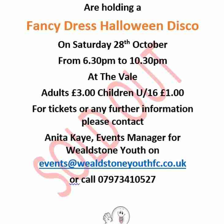 Halloween Fancy Dress Disco SOLD OUT