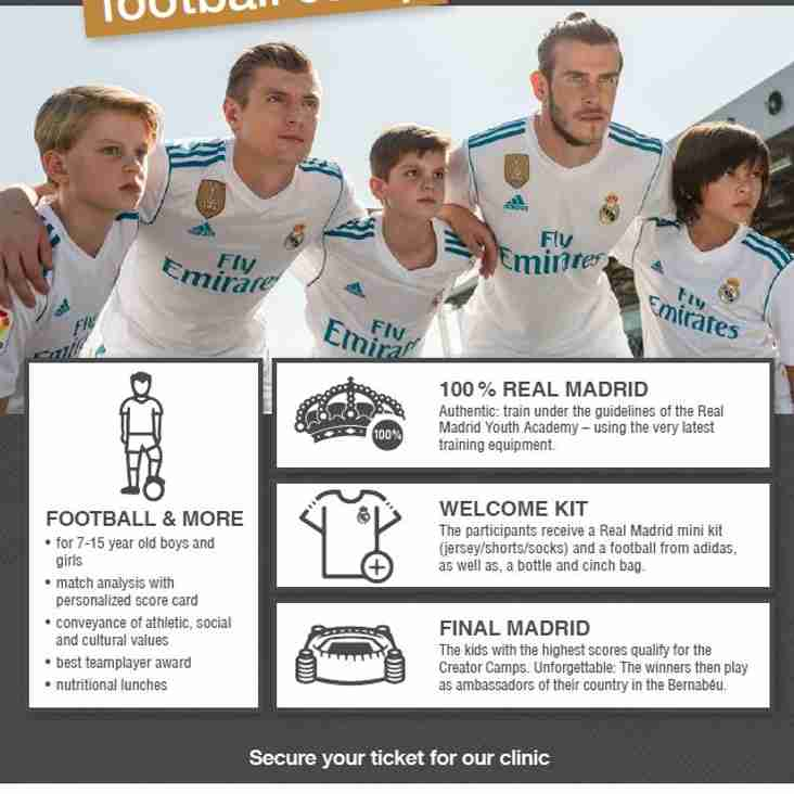 Real Madrid Soccer School is coming to Wealdstone Youth BOOK NOW