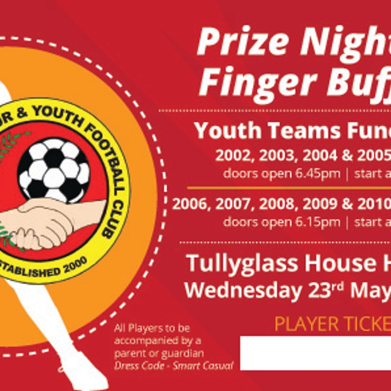 PRESENTATION NIGHT U8-16S - WED 23RD MAY 2018