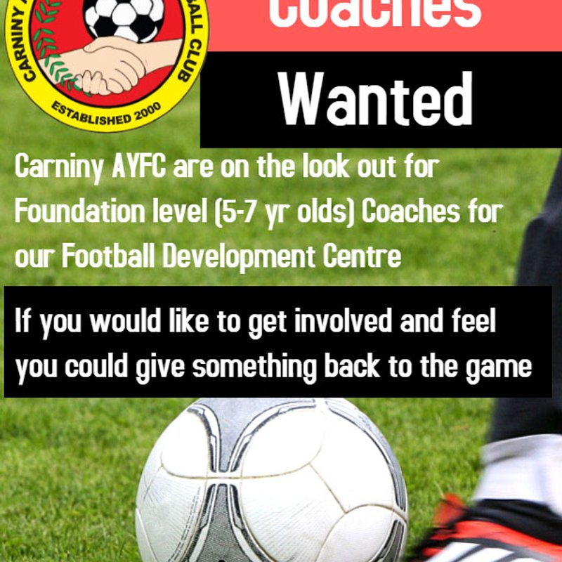 CLUB SEEKING FOUNDATION LEVEL COACHES