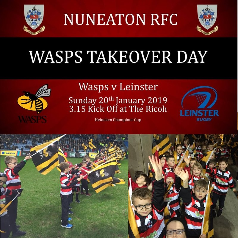 Additional seats available for the Wasps takeover day