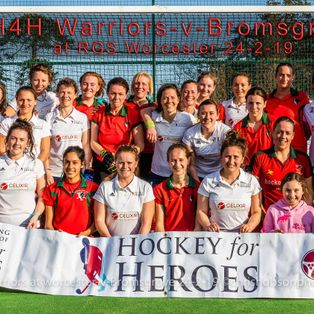 LADIES PLAYERS FROM BROMSGROVE HOCKEY CLUB EXPERIENCED PLAYING SOME OF THE UK'S TOP ATHLETES IN A CHARITY EXHIBITION MATCH LAST SUNDAY.