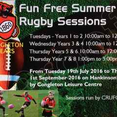 Fun Free Summer Rugby Sessions