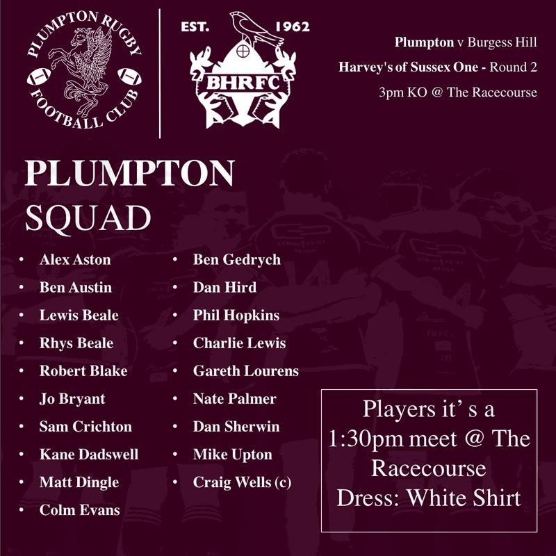 Plumpton v Burgess Hill - Squad Announcement