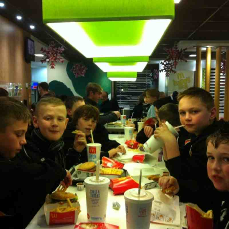 Under 11's orange  2011 xmas party chill factor e, The Tubes&Mc d's