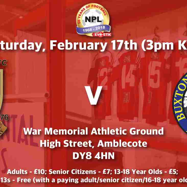 Stourbridge v Buxton - Match Preview