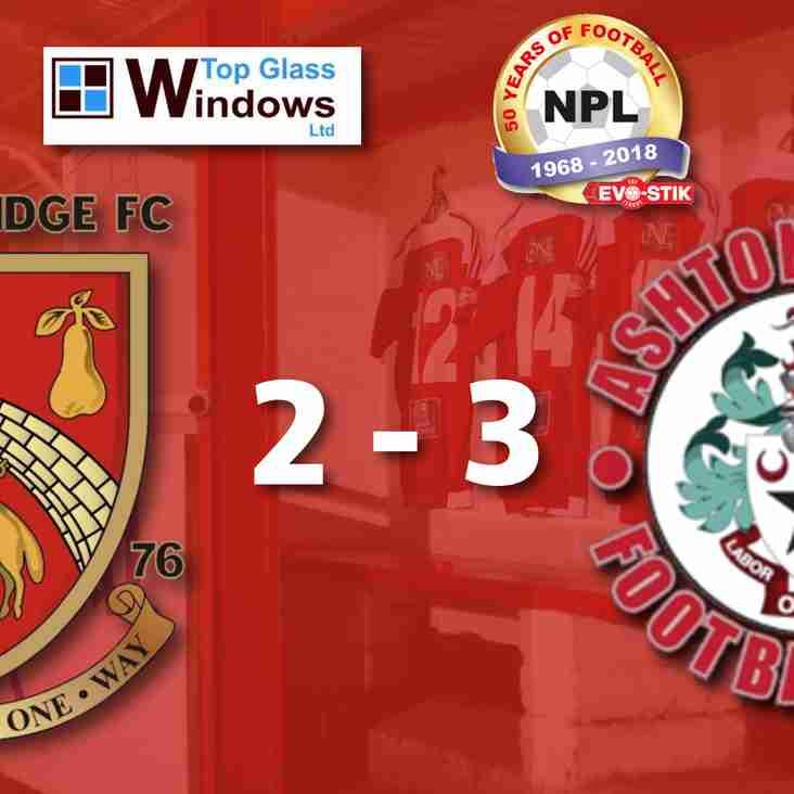 Stourbridge 2-3 Ashton United - Match Report