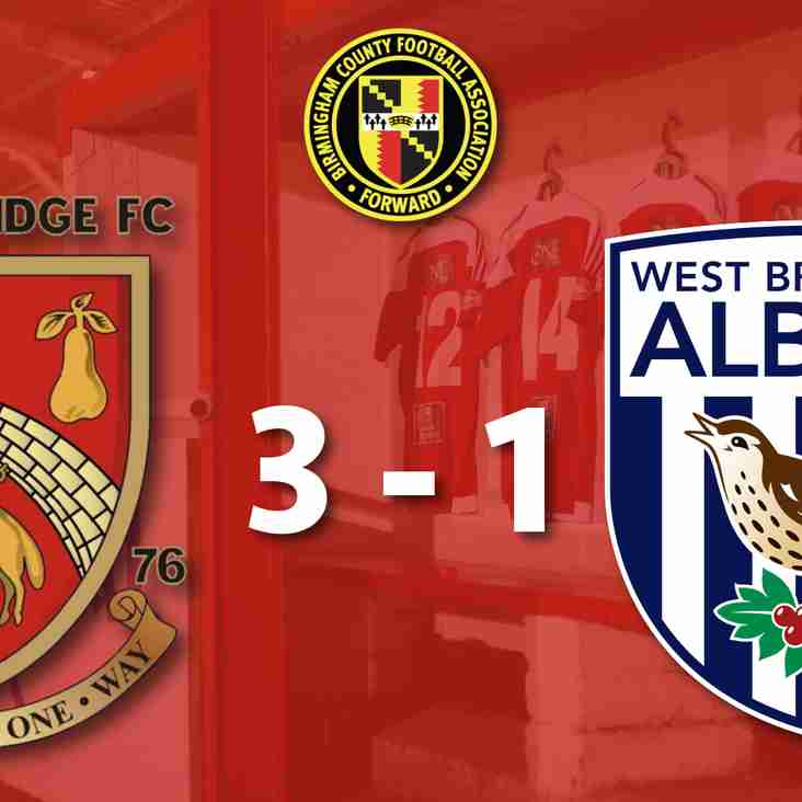 Stourbridge 3-1 West Bromwich Albion - Match Report