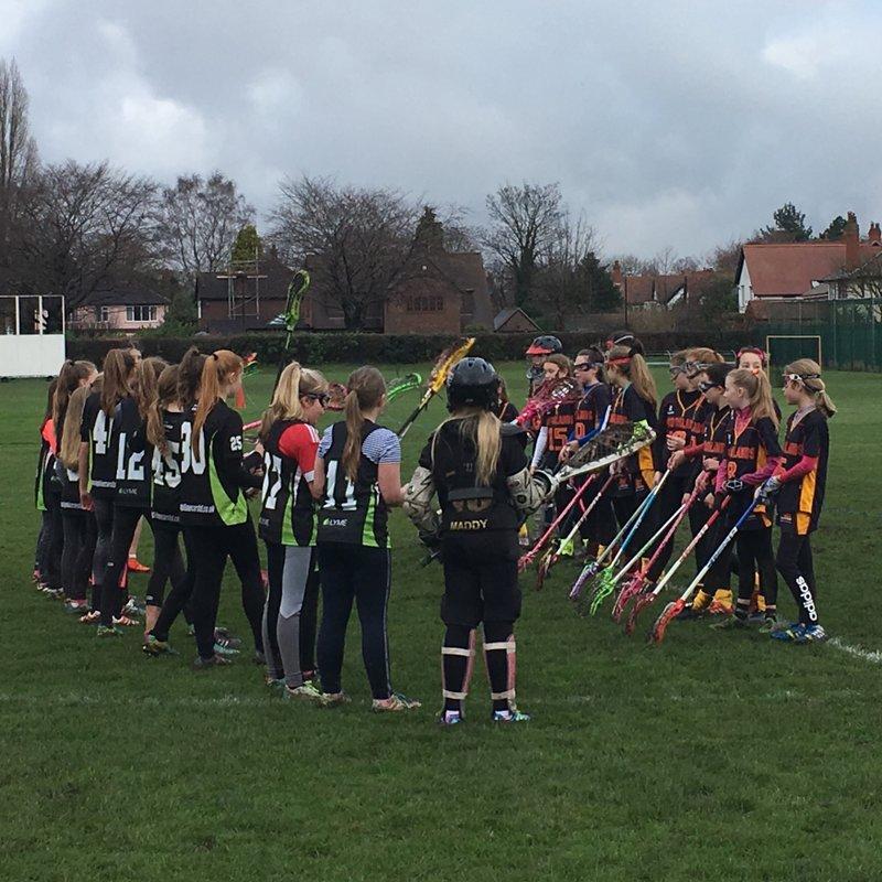 U13s Girls beat Brooklands 8-13