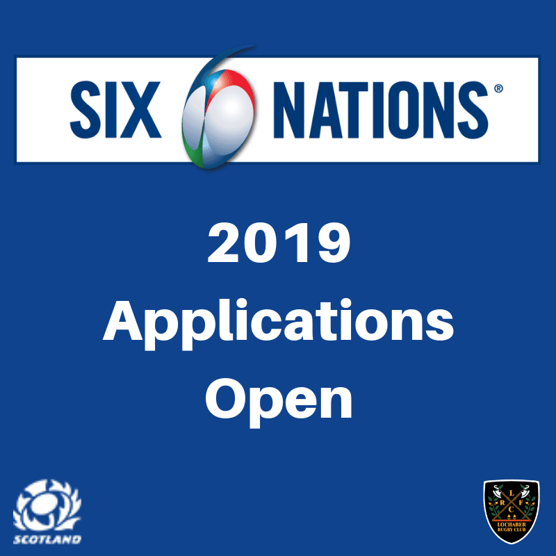 Six Nations 2019 Ticket Applications Now Open