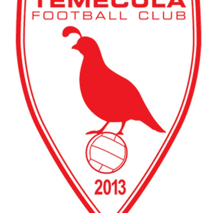 FIXTURE UPDATE - Temecula FC Friendly
