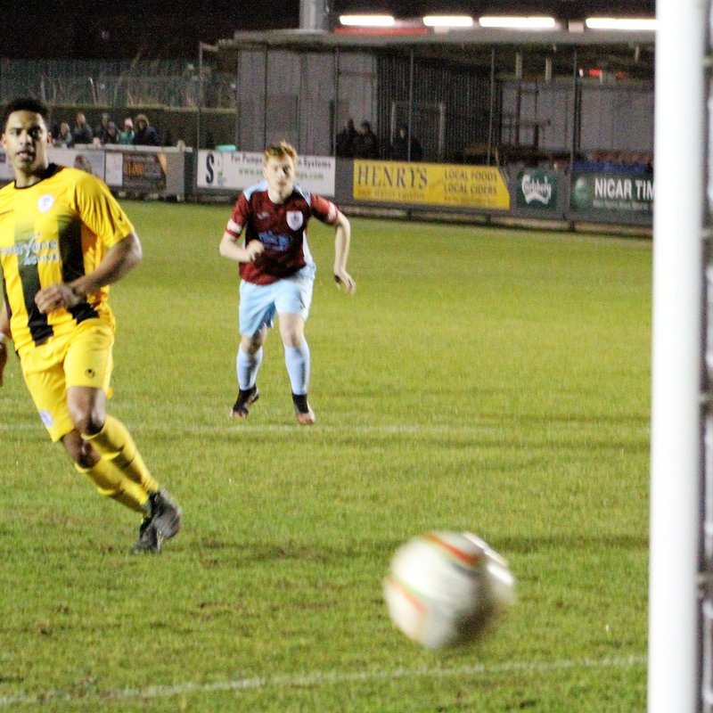 Taunton Town (3) v Clevedon Town (1) - Somerset Premier Cup - Match Report