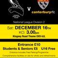 Fantastically Festive Fixture Chinnor v Canterbury