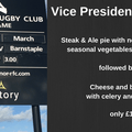 1st XV vs Barnstaple and Vice President lunch