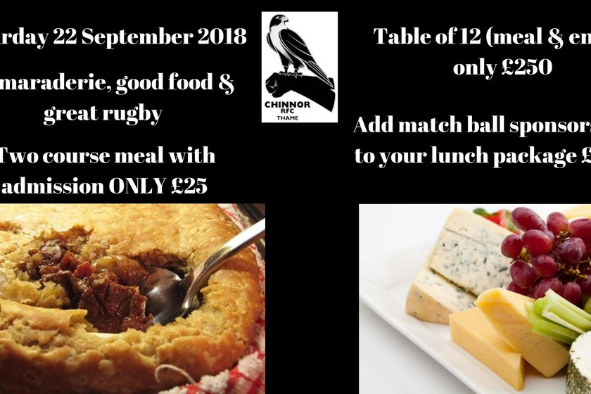 Chinnor 1st XV v Caldy RFC and match day lunch
