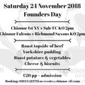 Founders day lunch and 1st XV v Sale FC