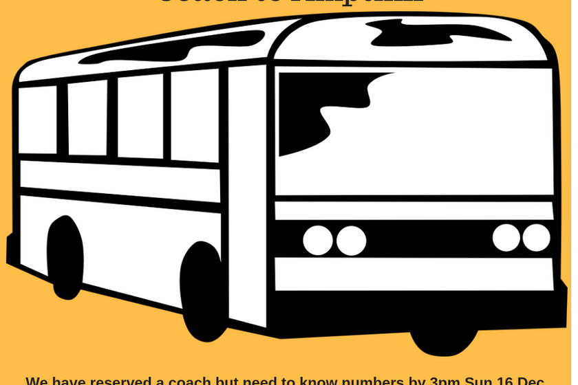 Saturday 22 December-Away day coach to Ampthill