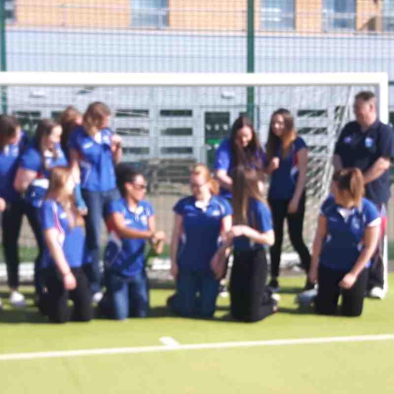 Ladies 2nd Team Celebtrating Winning the League