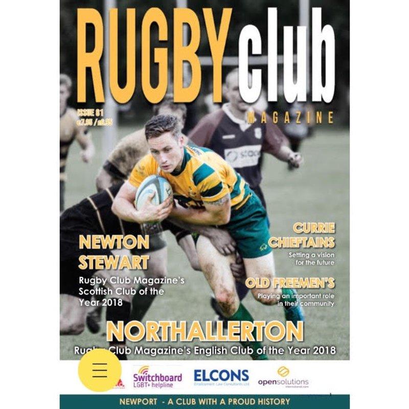 NRUFC in Rugby Club Magazine