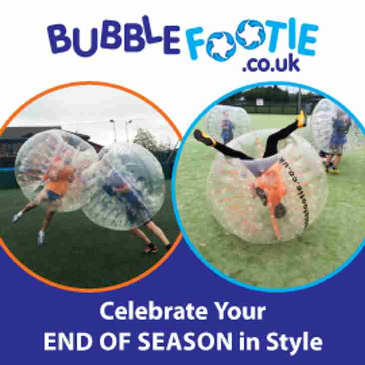 Celebrate your End of season with Bubble footie @ SUFC