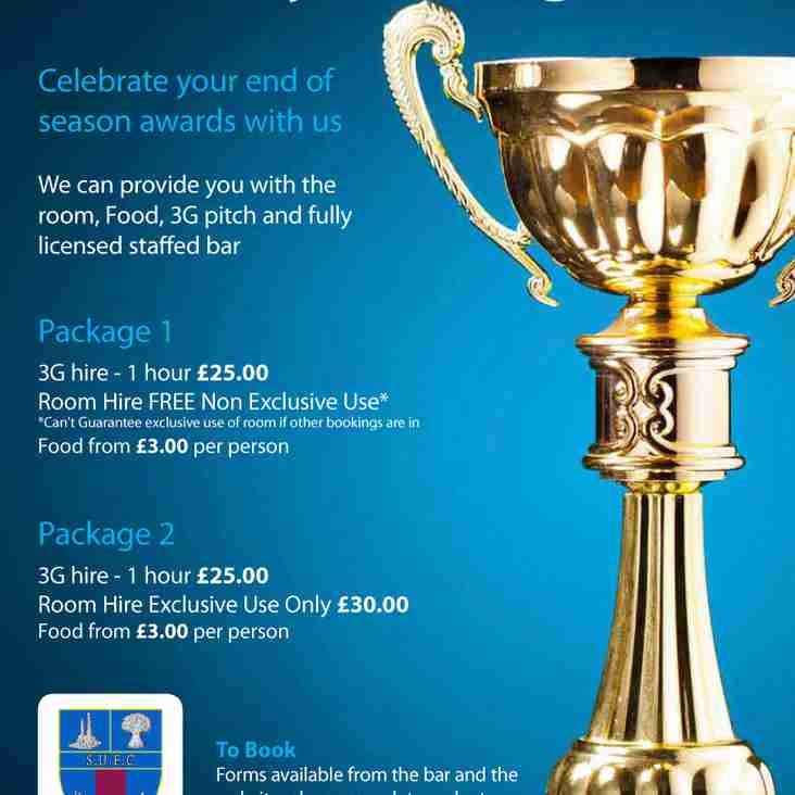 Book your End of season party with us!