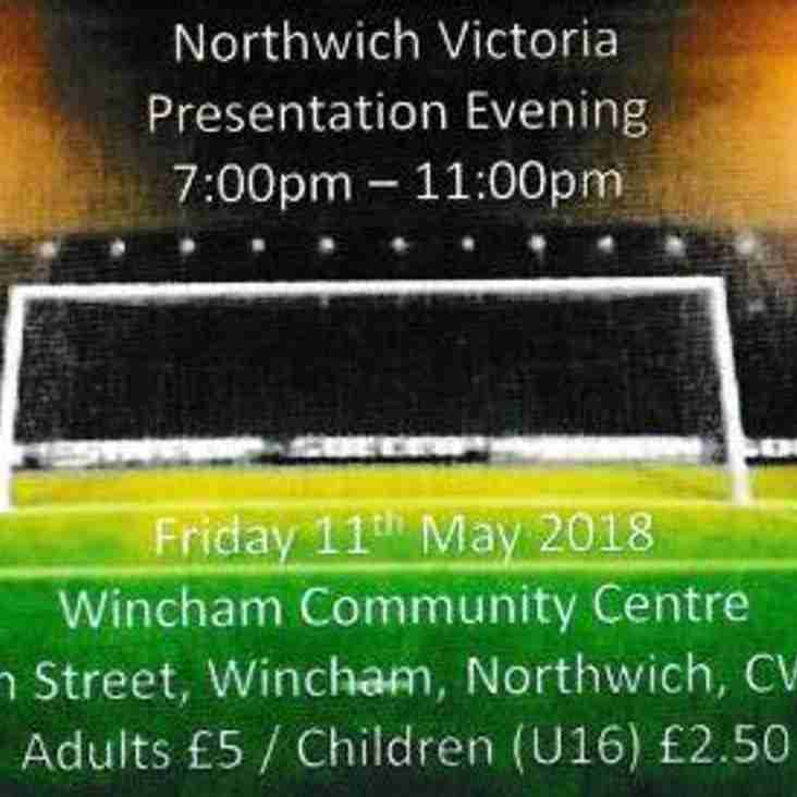 NORTHWICH VICTORIA PRESENTATION EVENING