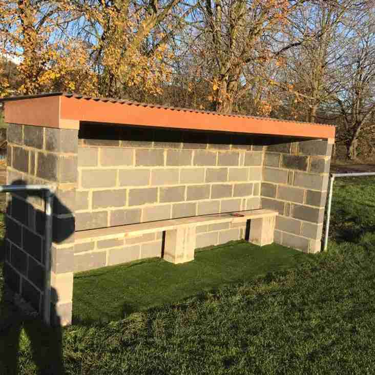NEW DUGOUTS ON SENIOR PITCHES