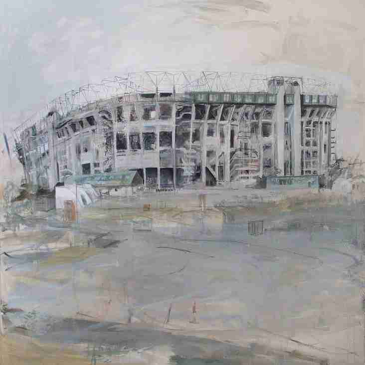 Stafford RUFC awarded Twickenham painting in memory of John Perry.