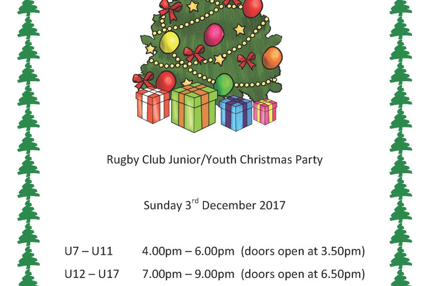 Rugby Club Junior/Youth Christmas Party