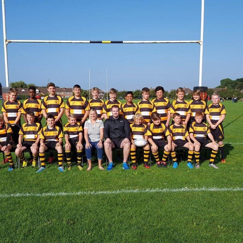 Under 14s beat Berry Hill 0 - 43
