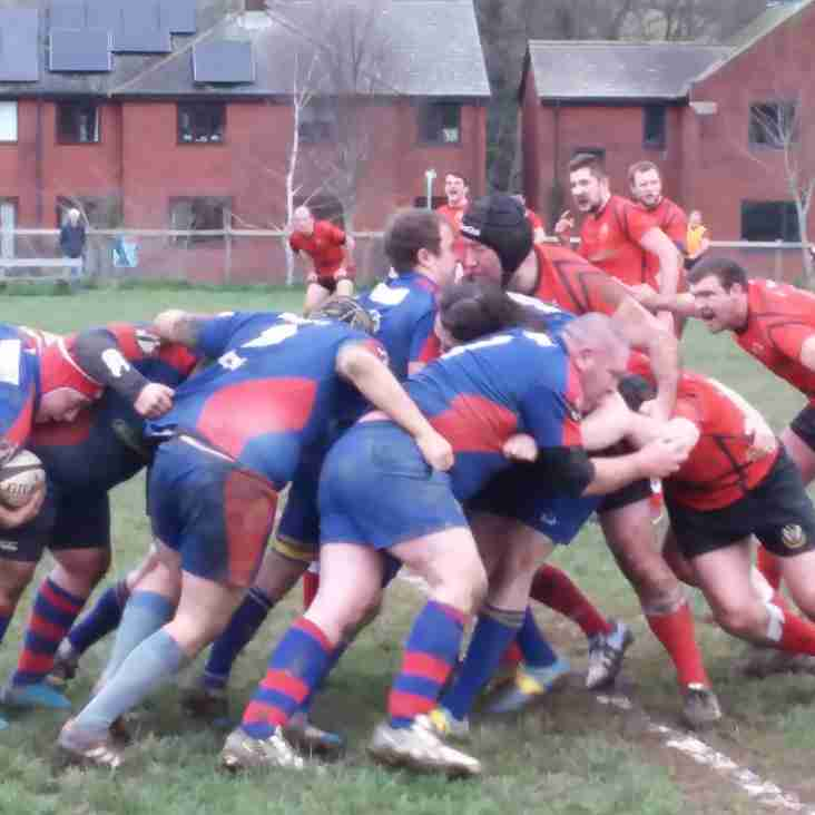 HAT TRICK OF TRIES BY PARRIS FOR TOTNES OPENS FLOODGATES AGAINST EXETER SARACENS.