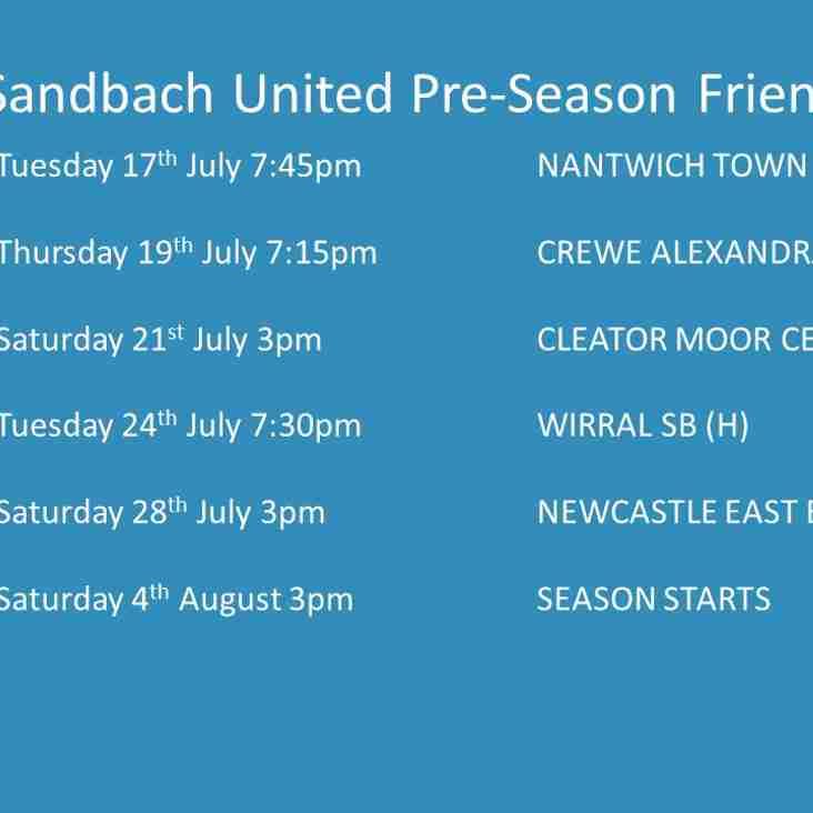 Preseason Schedule (updated)