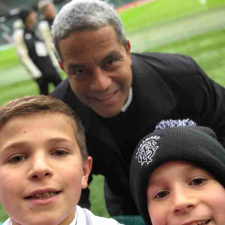 Brothers visit Twickers for the first time