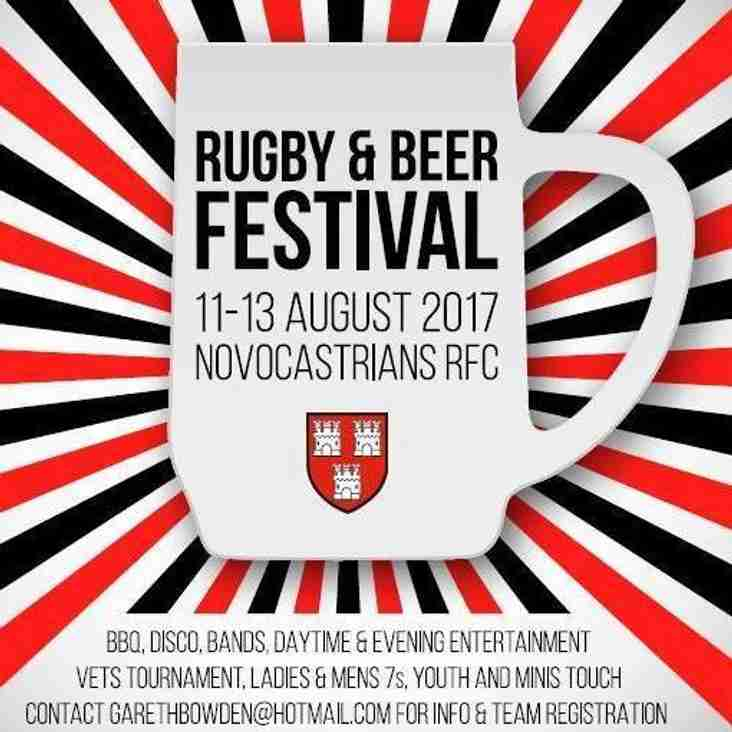 Novos RFC Rugby and Beer Festival this weekend