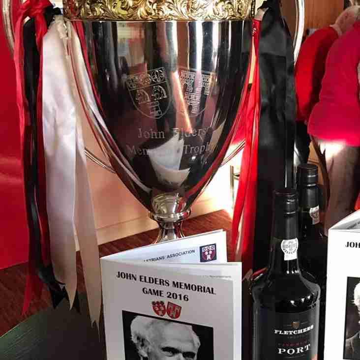 John Elders Memorial Game: 2 pm Saturday 30th December