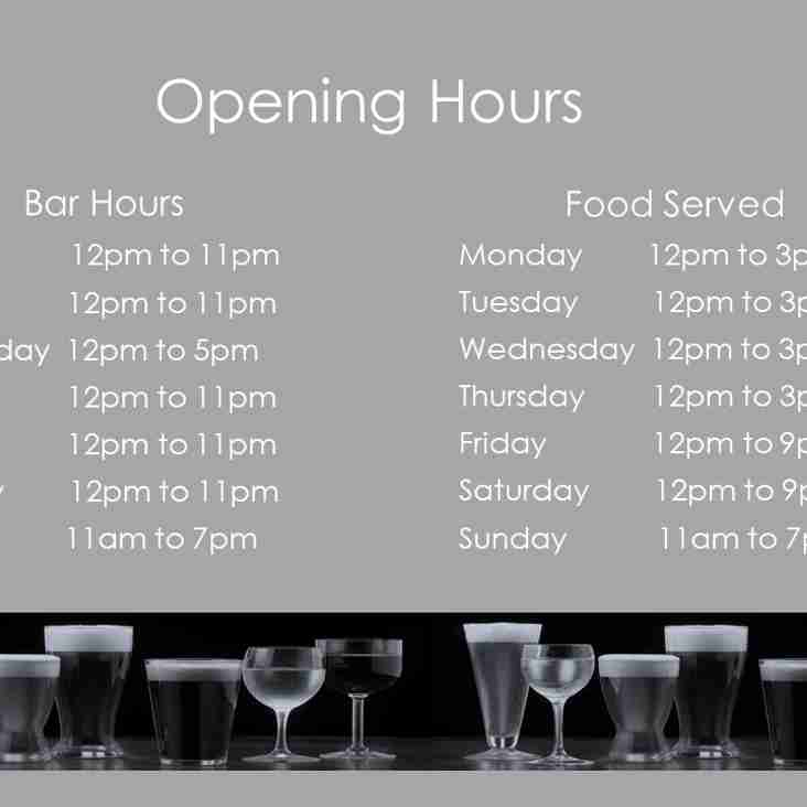 Opening Hours for the New Year