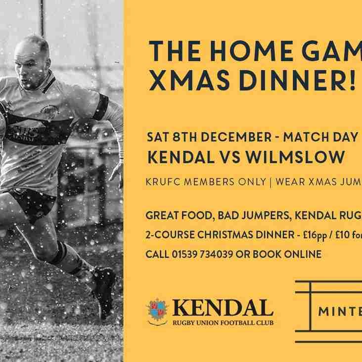 Saturday 8th December - Kendal v Wilmslow