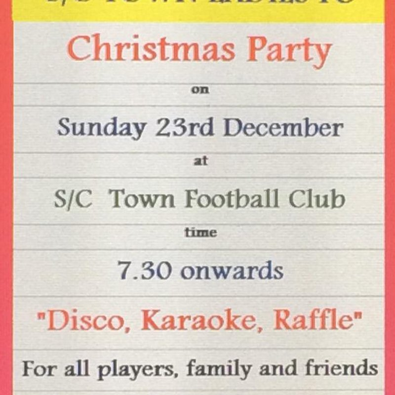 Sutton Coldfield Town Ladies FC Christmas Party