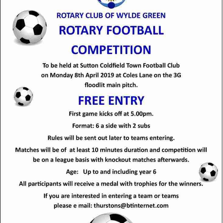 ROTARY CLUB OF WYLDE GREEN - ROTARY FOOTBALL COMPETITION