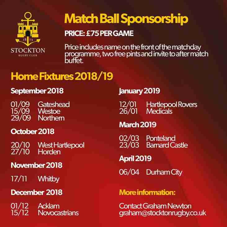 Match ball sponsorship