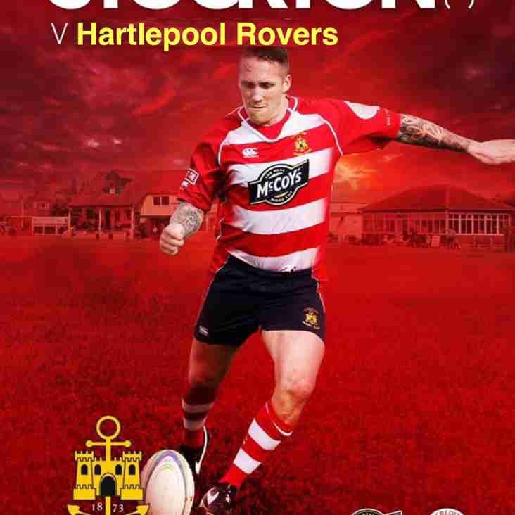 22/9 1st XV visit Hartlepool Rovers  (TS24 0BP) 3pm KO