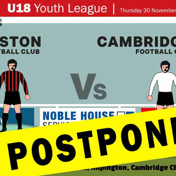 TONIGHT'S FIXTURE POSTPONED