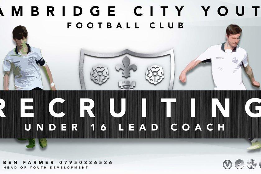Recruitment | U16 Lead Coach