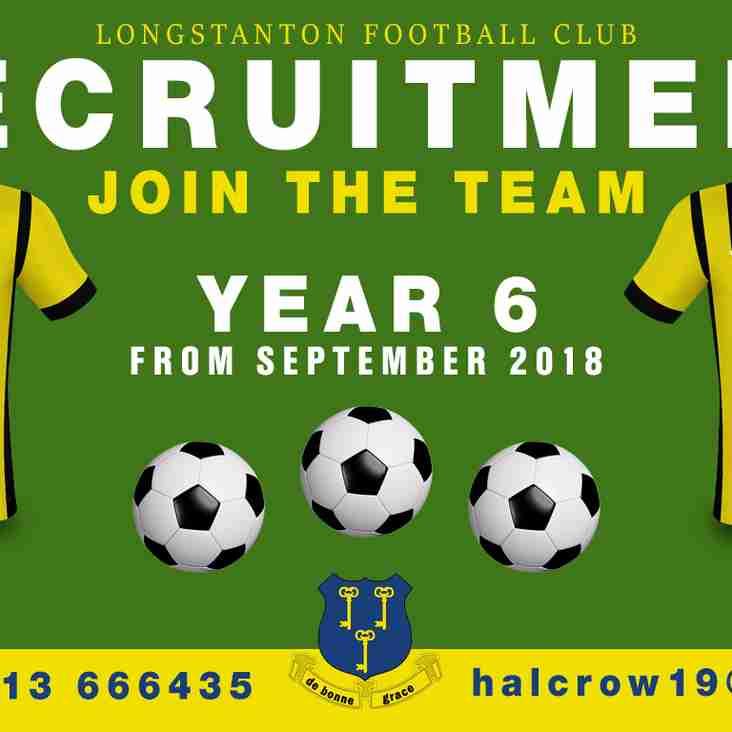 Year 6 | Under 11 2018/19 Recruitment