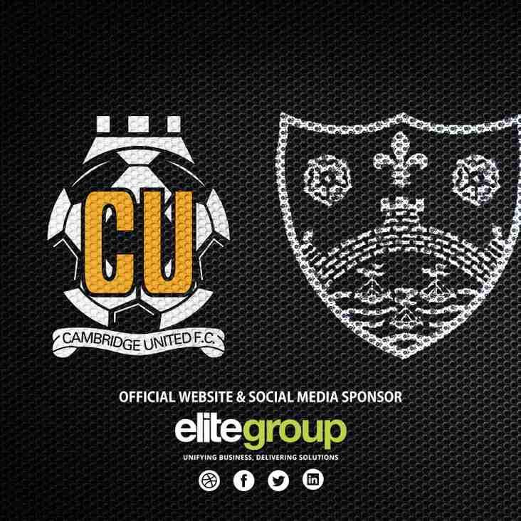 U13 to play Cambridge United Academy