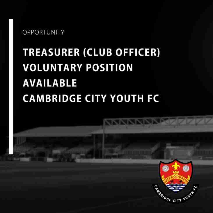Treasurer (Club Officer) Role