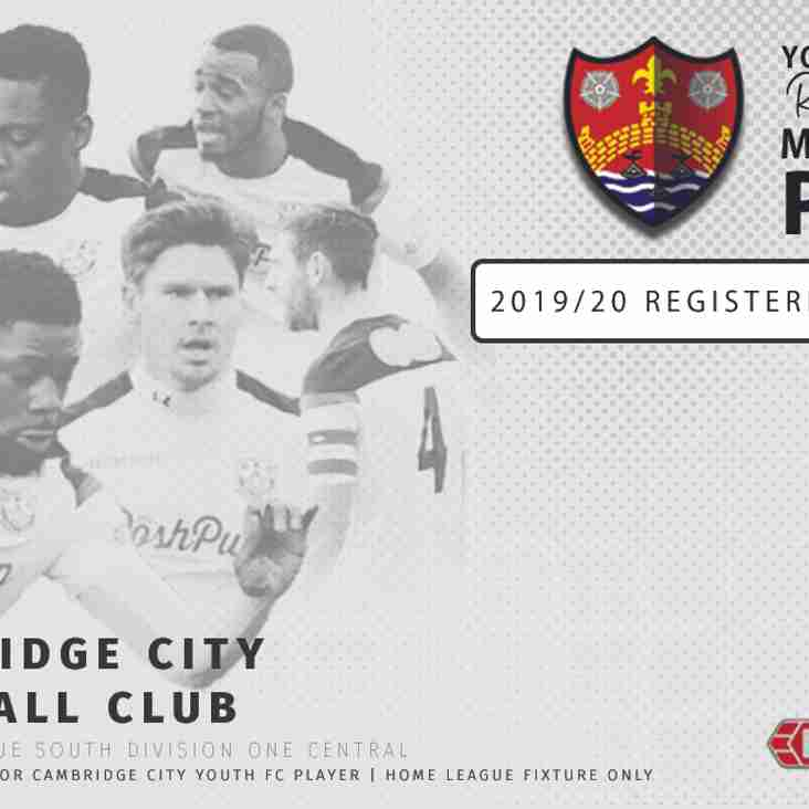 2019/20 Cambridge City FC | Match Day Pass